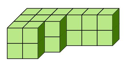 直方体と立方体の体積の問題①積み木