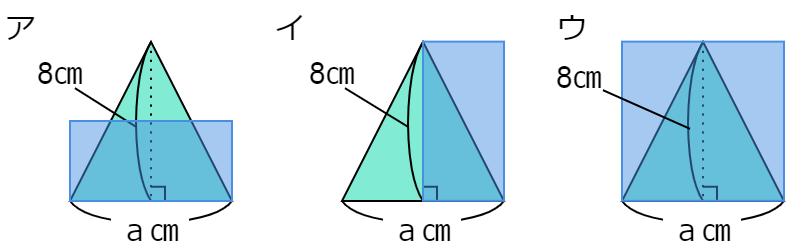 「三角形の面積の求め方」を表す文字の式アイウ