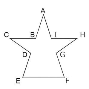 線対称な図形1