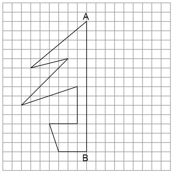 線対称な図形の作図
