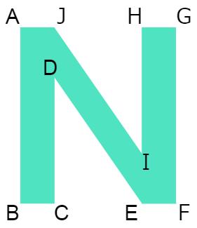 点対称な図形①