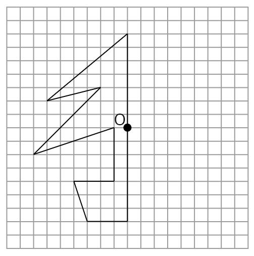 点対称な図形③