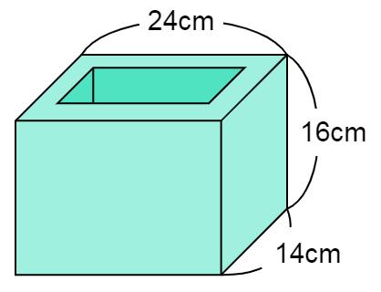 直方体の容積を求める