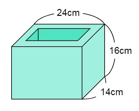 立体の体積から高さ・深さを求める問題